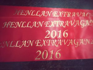 Sashes for the Royal Party