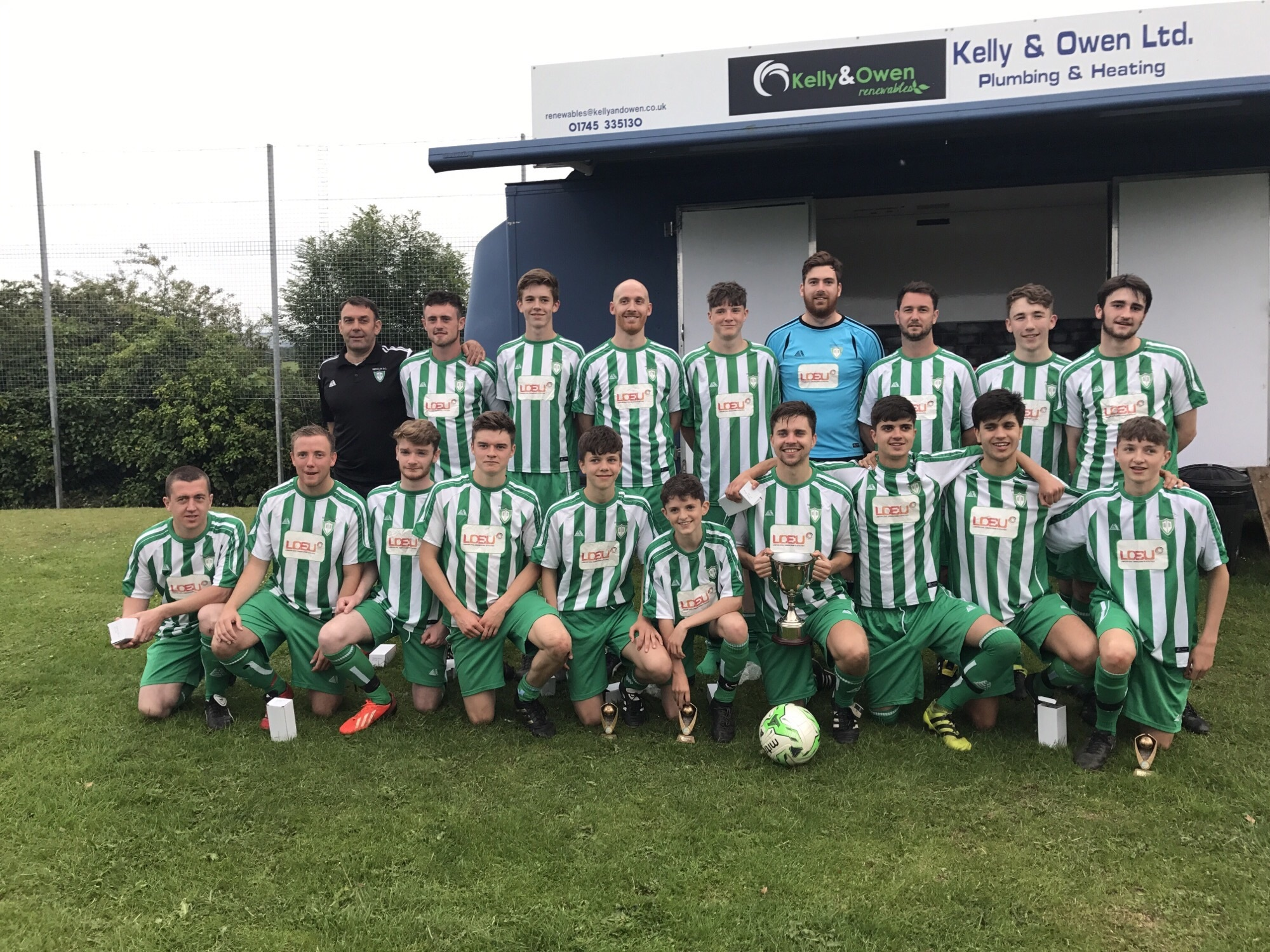 2017 Llandyrnog and District Champions HENLLAN FC sponsored by Lawson Civil Engineering &Utilities Ltd
